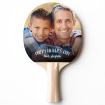 Happy Father's Day Personalized Photo Ping-Pong Paddle
