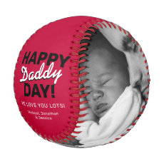 Happy Father's Day Photo Baseball