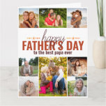 Happy Fathers Day Photo Collage Personalized Card
