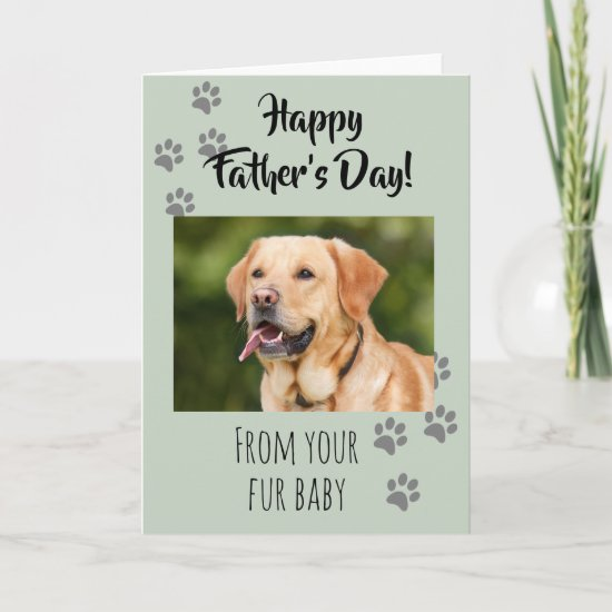 Happy Father's day Photo Dog Cat Pet Fur Baby Card