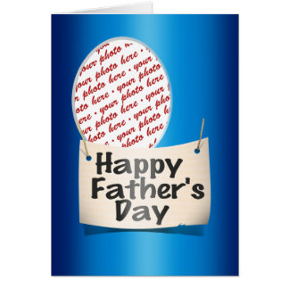 Happy Father's Day Photo Frame Card