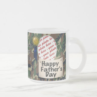 Happy Father's Day Photo Frame Frosted Glass Coffee Mug