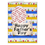 Happy Father's Day Photo Frame Greeting Card