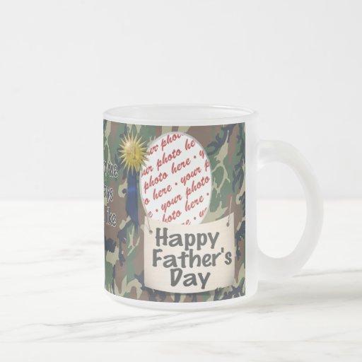 Happy Father's Day Photo Frame Coffee Mug