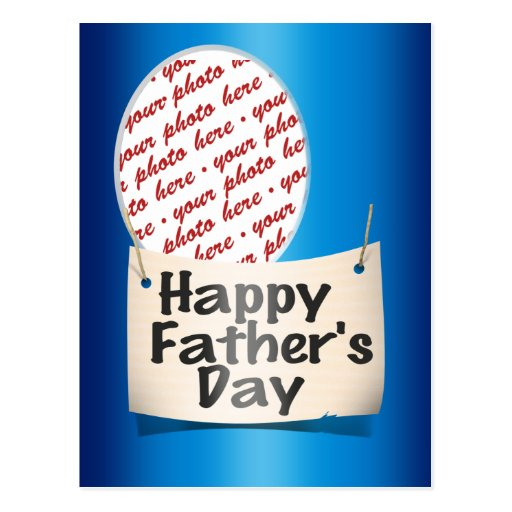 Happy Father's Day Photo Frame Postcard