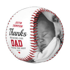 Happy Father's Day Photo Kids Names Baseball