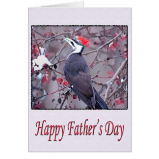 Happy Father's Day Pileated Woodpecker Card