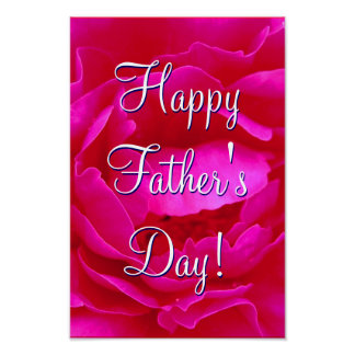 Happy Father's Day Pink Rose I Poster