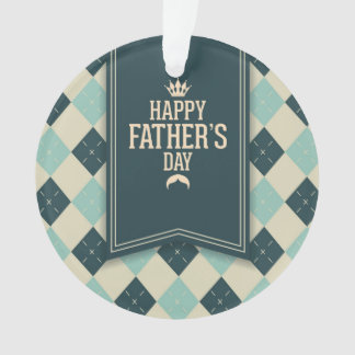 Happy fathers day,plaid,green beige,trendy,fun