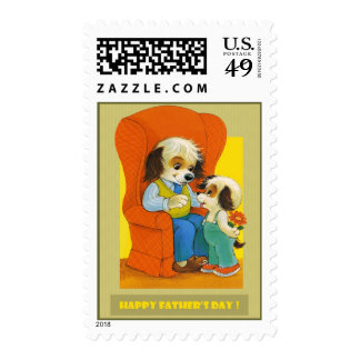 Happy Father's Day Postage Stamp