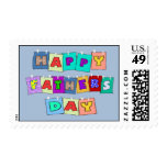 Happy Fathers Day Postage Stamp