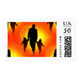 happy fathers day postal stamps