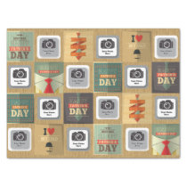 Happy Father's Day Postcard Tissue Paper