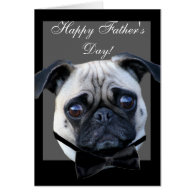 Happy Father's Day Pug greeting card