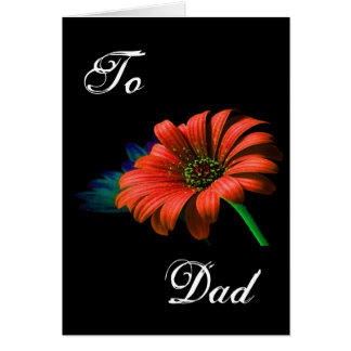 Happy Father's Day Red Orange Daisy II Greeting Card