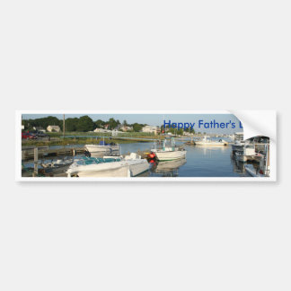 Happy Father's Day, reflections on the river Car Bumper Sticker