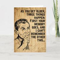 Happy Father's Day Retro Rustic Dad Humor Card