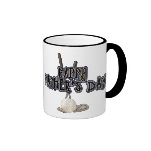 Happy Father's Day Ringer Coffee Mug