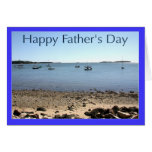 Happy Father's Day Sail Boats Greeting Card