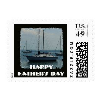 Happy Father's Day, Sail Boats Stamps