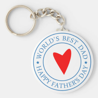 Happy Father's day- Seal Basic Round Button Keychain