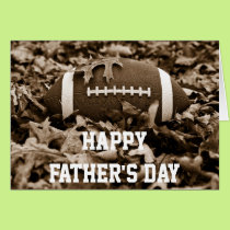 Happy Father's Day Sepia Football Card