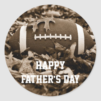Happy Father's Day Sepia Football Sticker