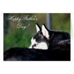 Happy Father's Day Siberian Husky greeting card