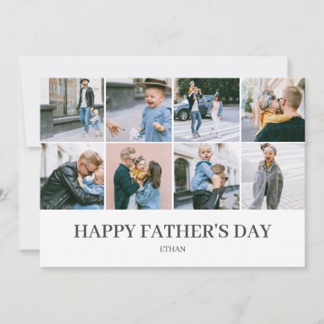 Happy Father's Day Simple Elegant Photo Holiday Card
