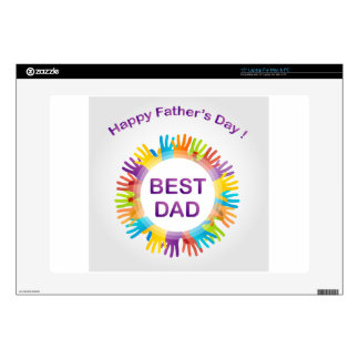 Happy fathers day skin for laptop