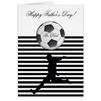Happy Father's Day Soccer Ball Photo Stripe Card