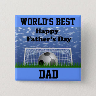 Happy Fathers Day Soccer Button