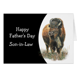 Happy Father's Day Son-in-law  Buffalo Bison Card