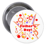 Happy Father's Day Splash 3 Inch Round Button
