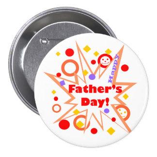 Happy Father's Day Splash 3 Inch Round Button