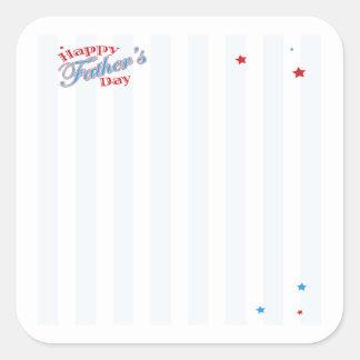 Happy Fathers Day Square Sticker