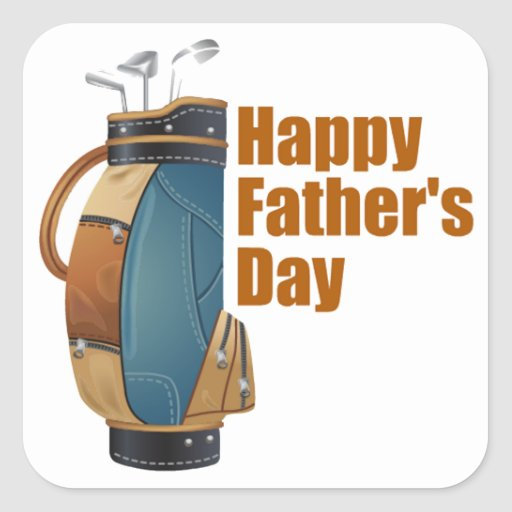 Happy Father's Day Square Stickers