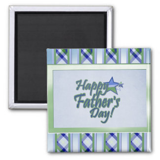 happy fathers day Star Dad 2 Inch Square Magnet