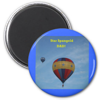 Happy Fathers' Day, Star Spangled Dad!  XLTA Refrigerator Magnet