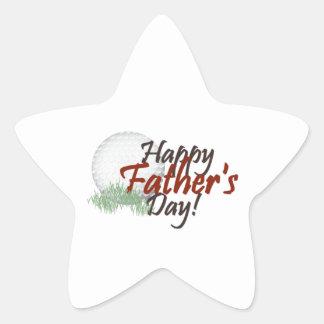 happy fathers day star sticker