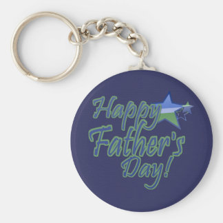happy fathers day StarDad Keychain