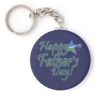 happy fathers day StarDad Keychain