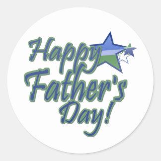 happy fathers day StarDad Round Stickers