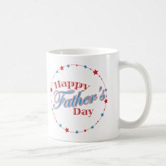 Happy Father's Day Stars Classic White Coffee Mug