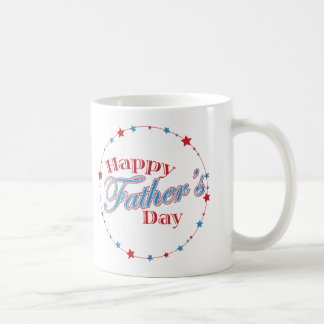 Happy Father's Day Stars Coffee Mug