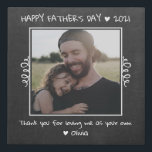 "Happy Father's Day Step Dad Rustic Chalkboard Faux Canvas Print<br><div class=""desc"">Express your love and gratitude to your stepdad with this rustic photo canvas art for father's day.</div>"