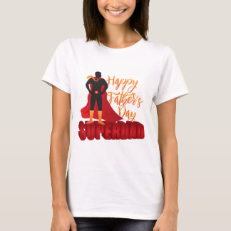 Happy Fathers Day Super Dad Color Illustration T-Shirt