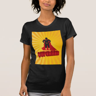 Happy Fathers Day Super Dad Sun Rays Illustration T-Shirt