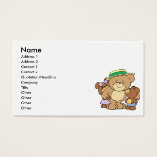 happy fathers day teddy bears design business card