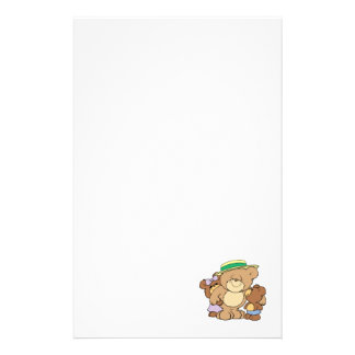 happy fathers day teddy bears design stationery